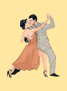 Позиция в паре, фокстрот, школа танцев, техника танца