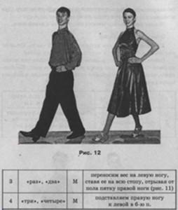 фокстрот, техника танца
