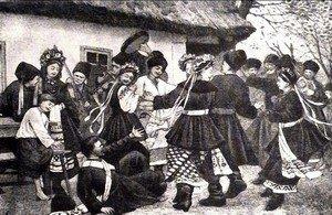 Деревенское свадебное гуляние серди крестьян