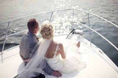 Свадьба под парусом - отличный способ отметить день бракосочетания