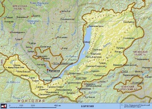 Геополитическая карта Бурятии